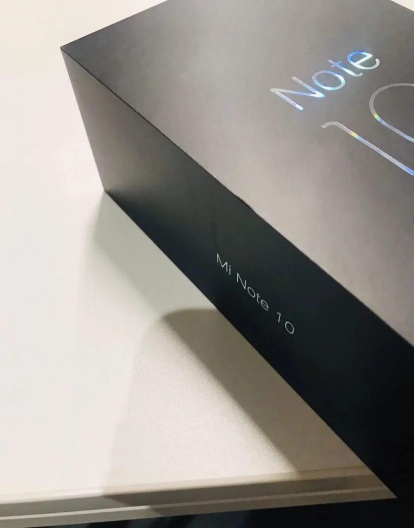 Caja de venta filtrada del Xiaomi™ Mi Note 10