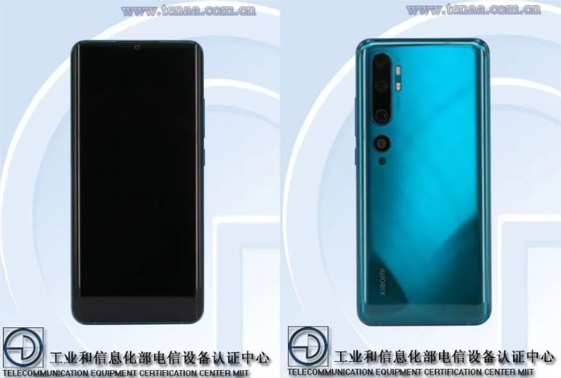 Xiaomi Mi Note 10 diseño