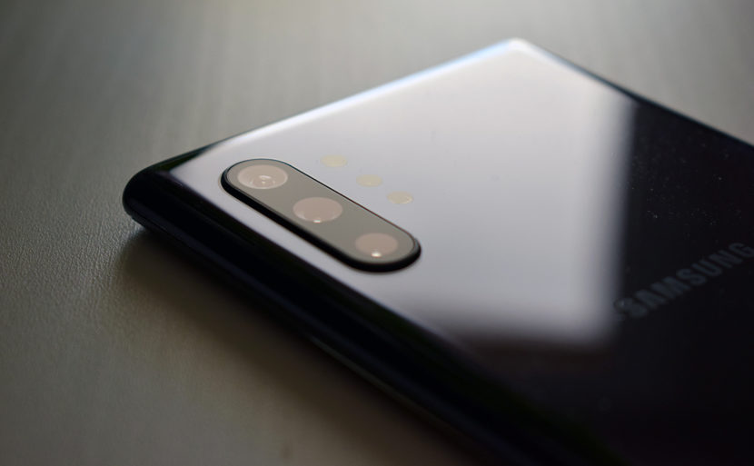 Triple cámara del Galaxy Note 10 Plus