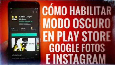 Así puedes habilitar el modo oscuro ya en el Play Store, Google Fotos e Instagram