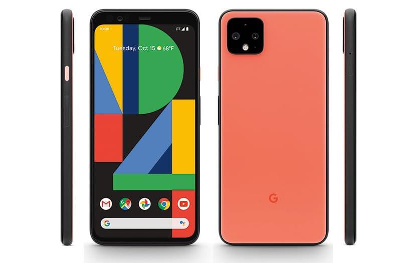 Pixel cuatro XL en naranja