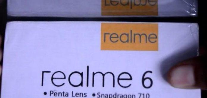 Caja de venta minorista filtrada del Realme 6