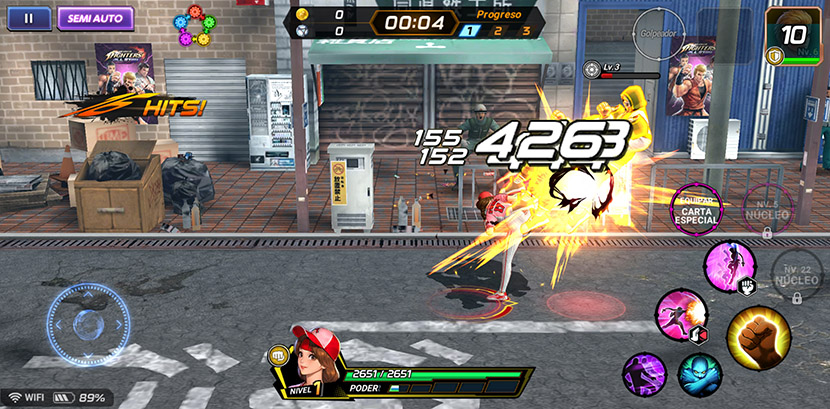 The King of Fighters luchando