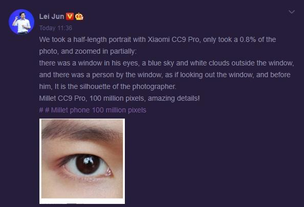 Muestra de cámara del Xiaomi Mi CC9 Pro