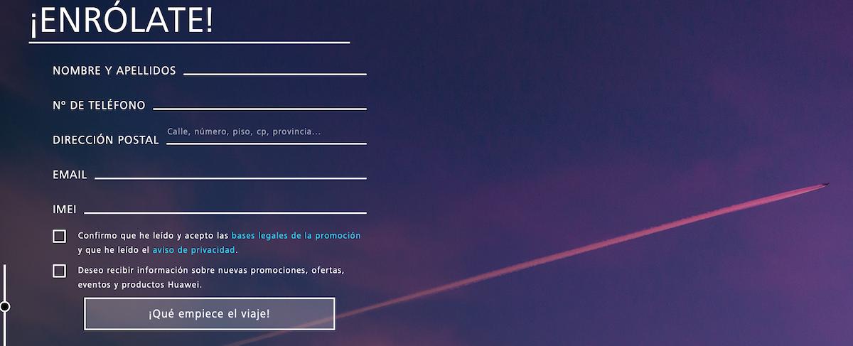 Huawei Misión Estratosfera formulario