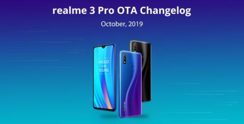 Actualización del software del Realme 3 Pro