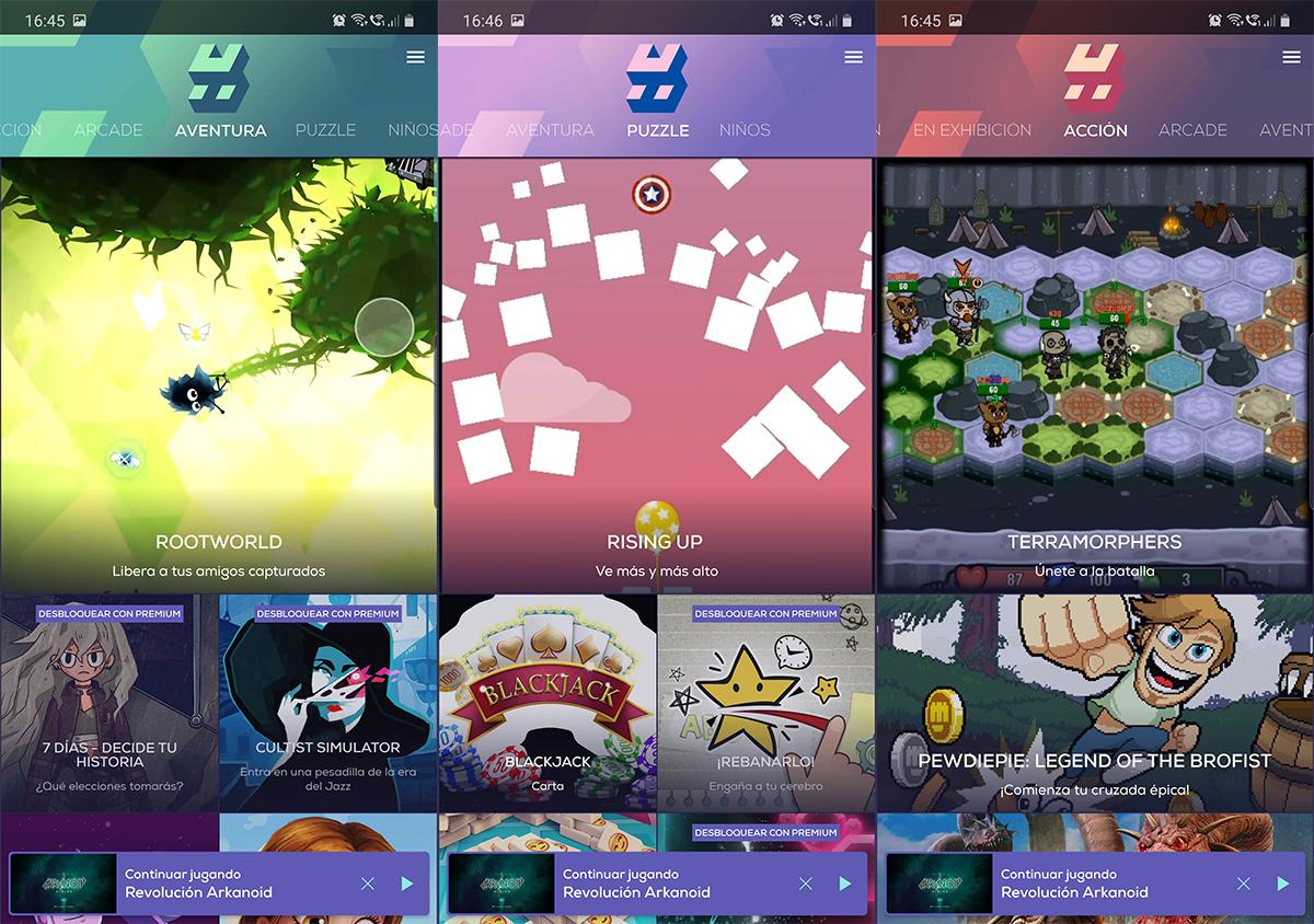 Hatch Juegos de Android