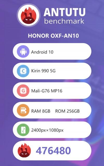 Honor V30 Pro en Antutu