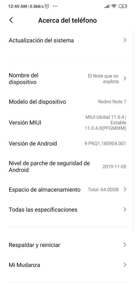 MIUI 11 estable para el Redmi Note 7