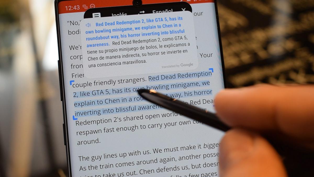 Traducir texto con el S Pen