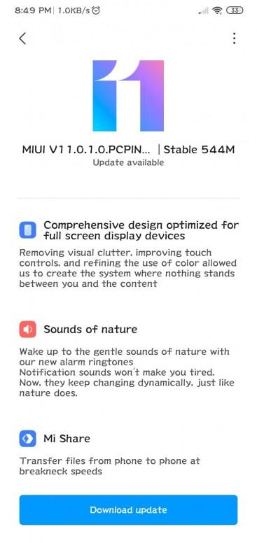 Actualización de MIUI 11 para el Redmi 8A