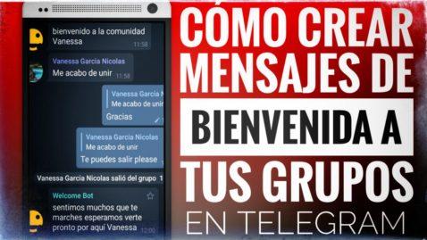 crear mensajes de bienvenida en grupos de Telegram