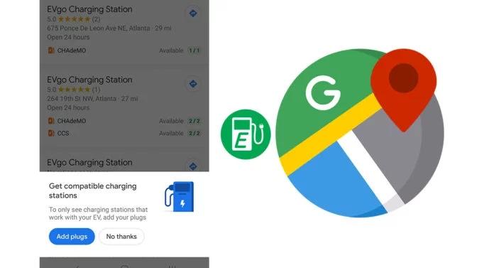 Google Maps y su nuevo filtro para coches eléctricos