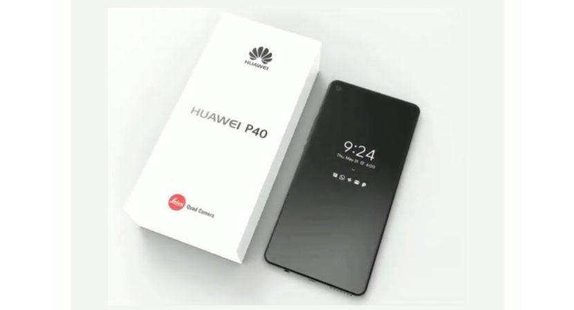 Render del Huawei P40 Pro