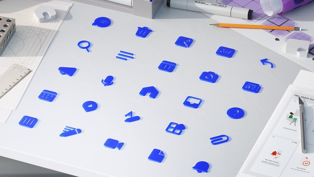 Iconografía de Fluent Design