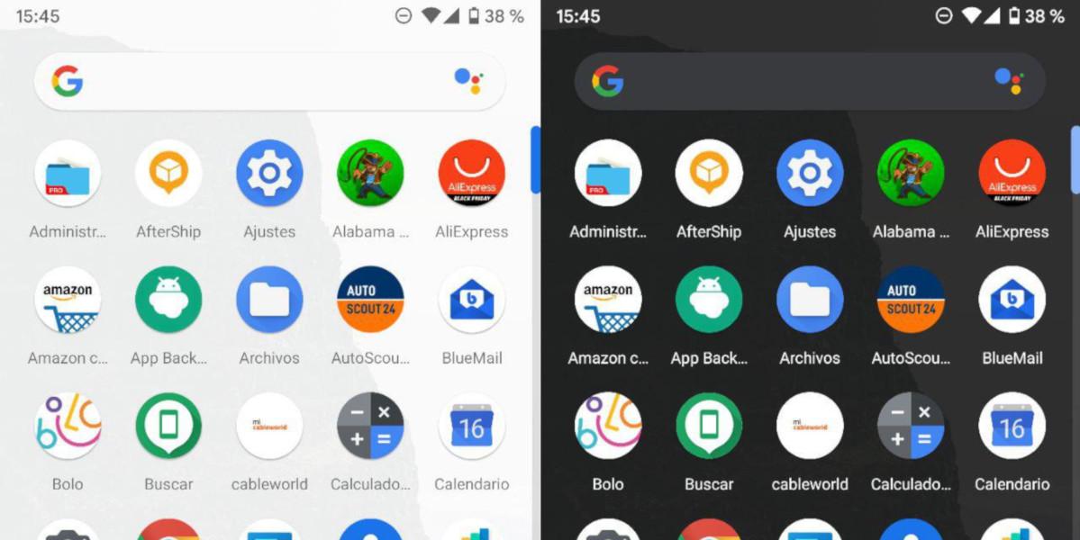 modo oscuro Android