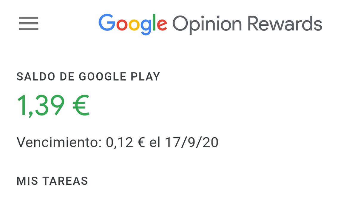 Google Opinion Rewards caducidad