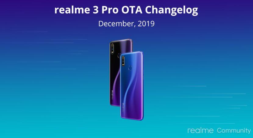 Actualización de diciembre del 2019 para el Realme 3 Pro