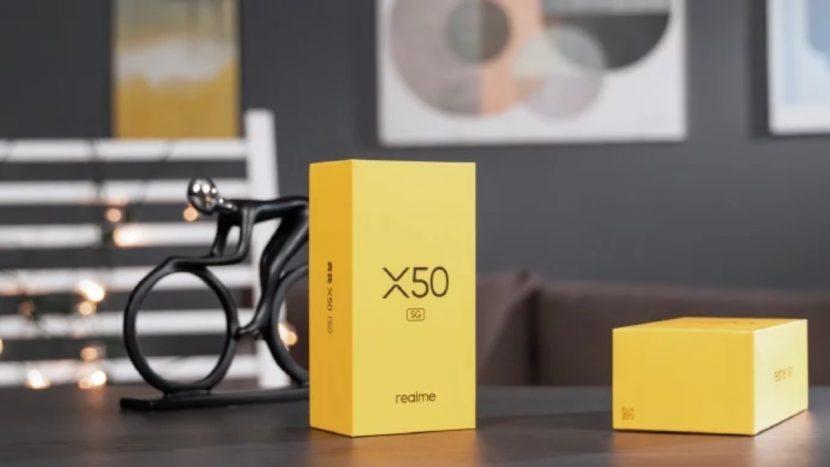 Caja de reventa minorista del Realme X50 5G