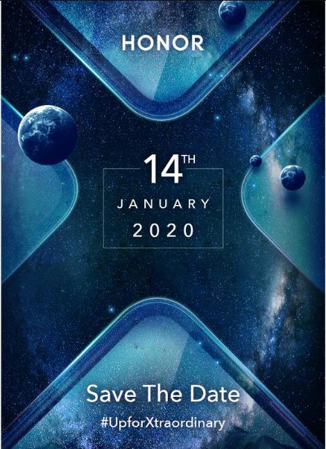 Evento de lanzamiento de Honor de enero del 2020 para la India