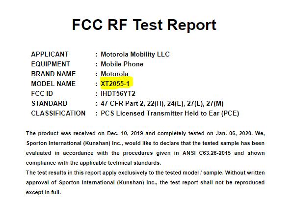 Aprobación del Moto Z5 de Motorola por la FCC