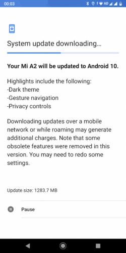 El Xiaomi Mi A2 recibe Android 10