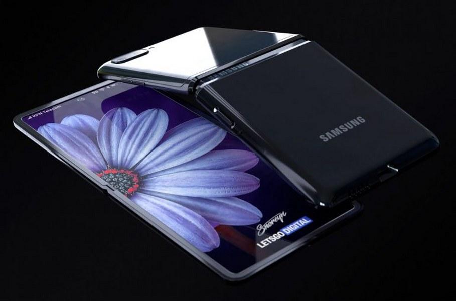 Samsung Galaxy Z Flip se muestra en renders
