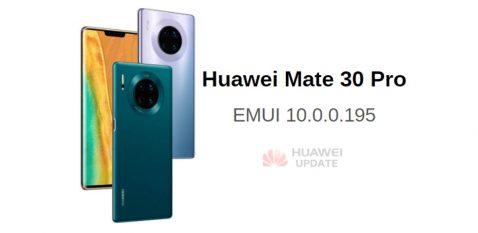 Actualización de EMUI 10.0.0.195 para el Huawei Mate 30 Pro