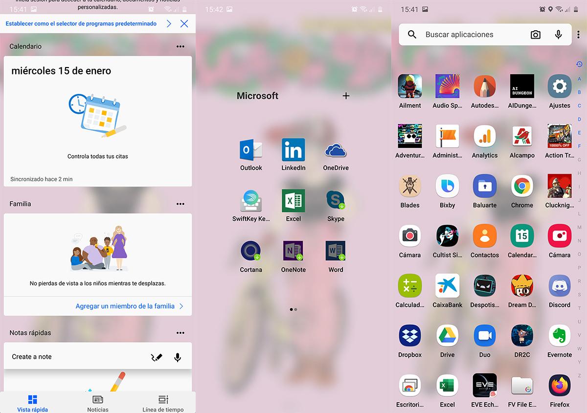 Microsoft Launcher versión 6
