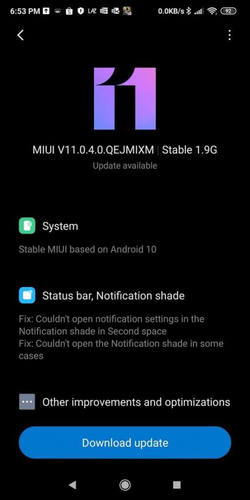 Actualización de Android 10 para el Pocophone F1