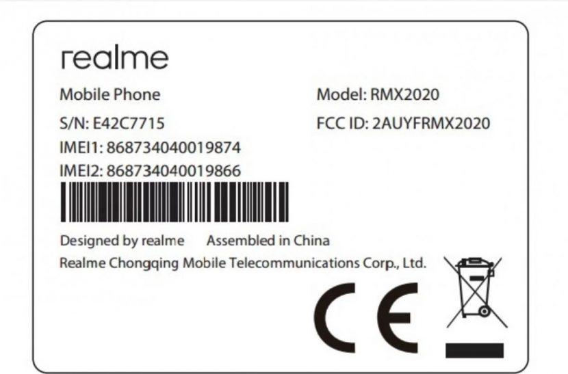Realme C3s certificado por la FCC