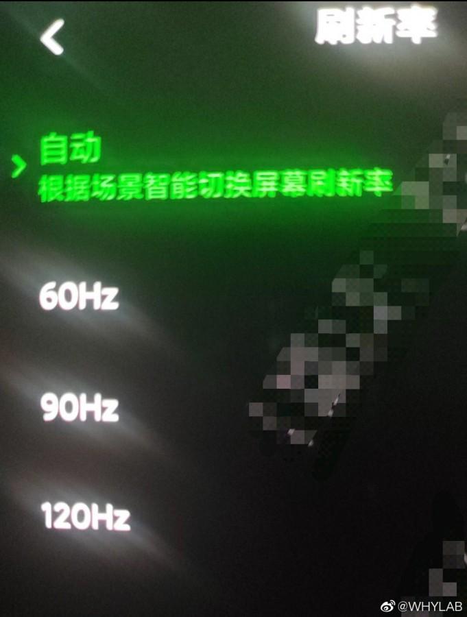 Pantalla del Xiaomi Black Shark 3 con resolución QHD y frecuencia de 120 Hz
