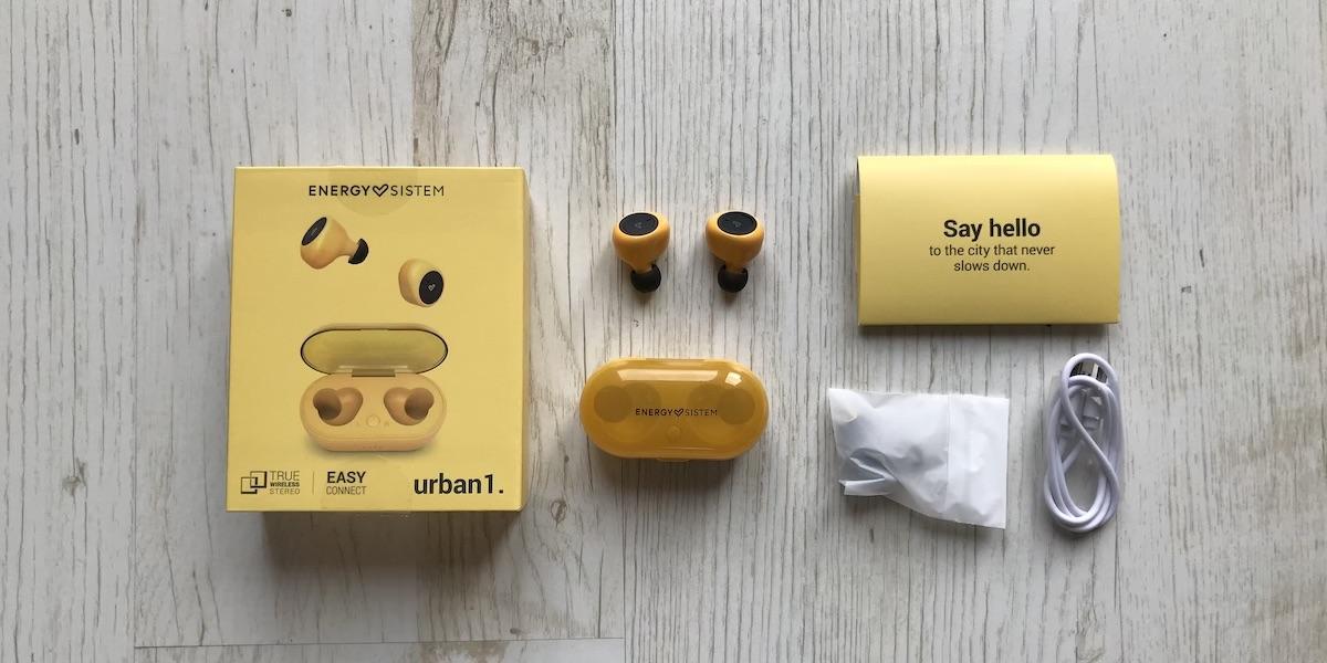 Energy Sistem urban 1 contenido de la caja