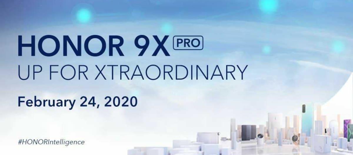 Lanzamiento global del Honor 9X Pro