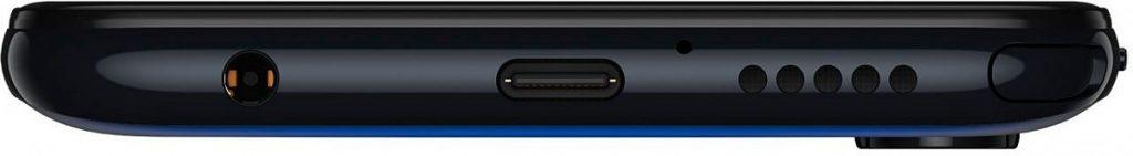 Parte inferior del Motorola G Stylus con lápiz óptico