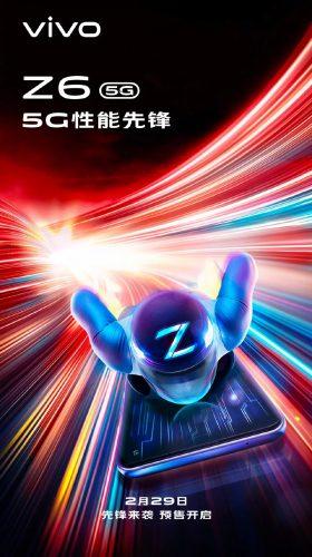 Anuncio de lanzamiento del Vivo Z6 5G