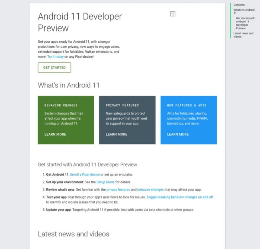 Vista previa para desarrolladores de Android 10 filtrada