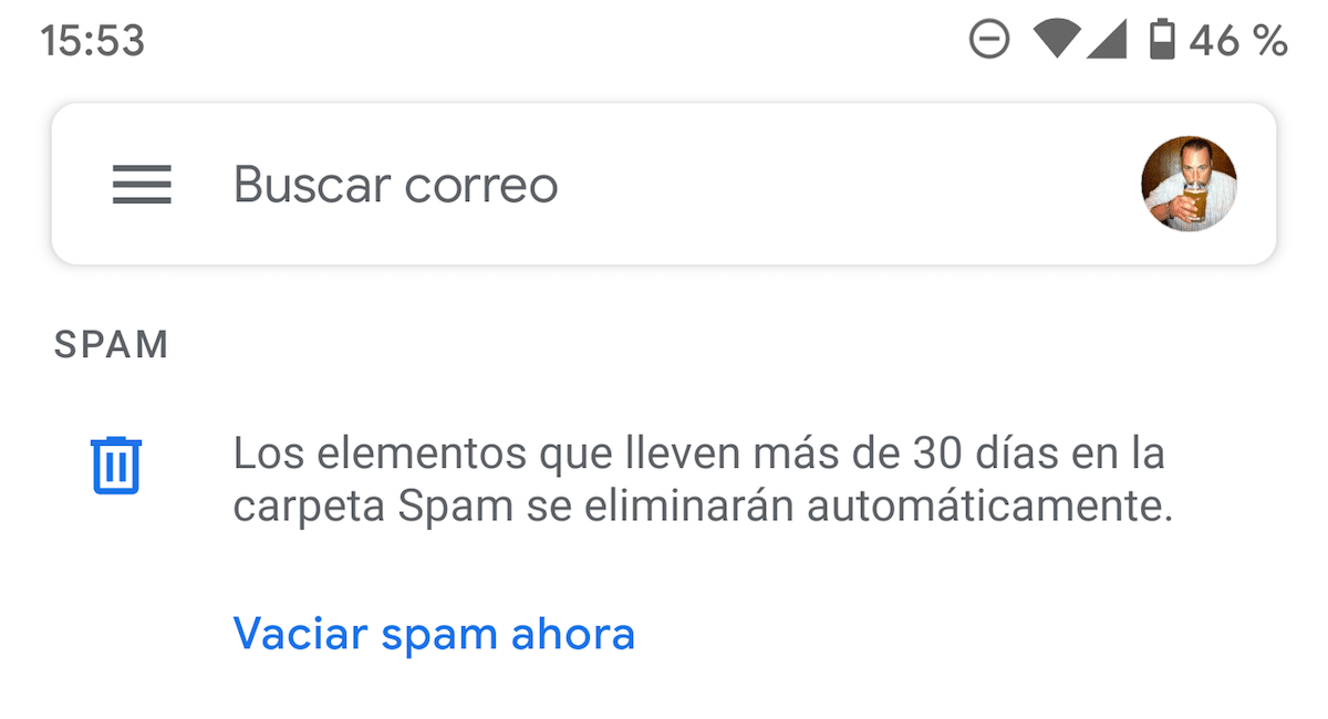 Bug Gmail Vaciar carpeta SPAM
