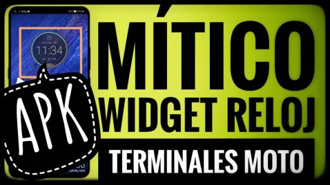 Descargar Widget Reloj Moto Z Command Center