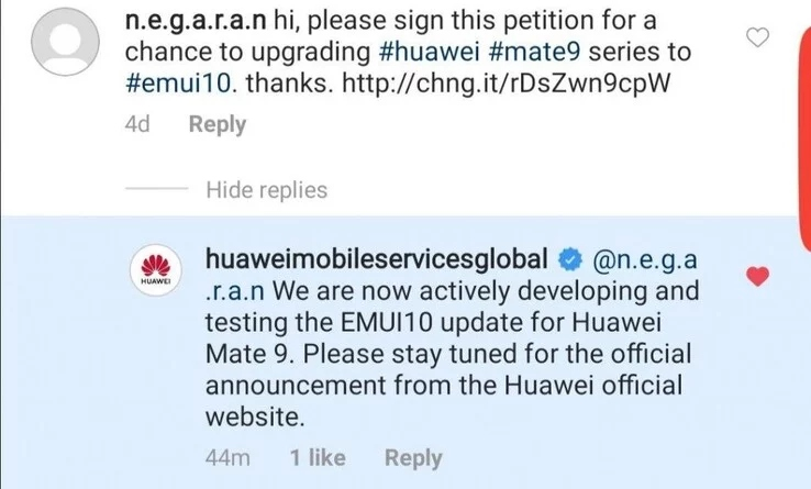 El Huawei Mate 9 no obtendrá Android 10