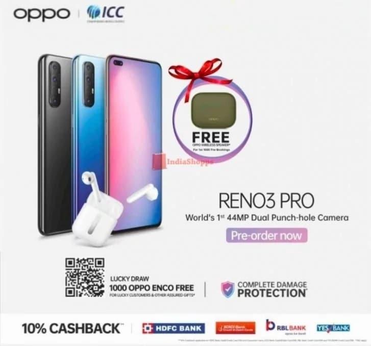 Oppo Reno 3 Pro sin 5G anunciado