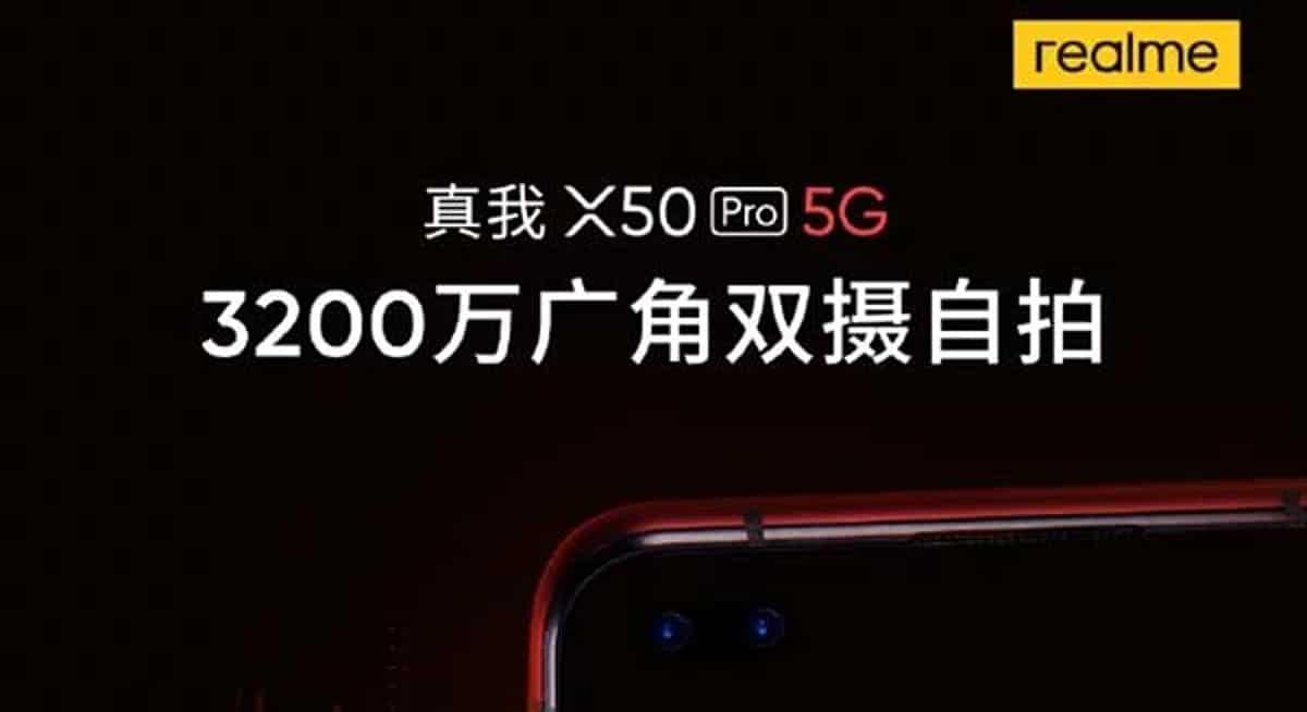 El Realme X50 Pro llegará con una doble cámara frontal de 32 MP