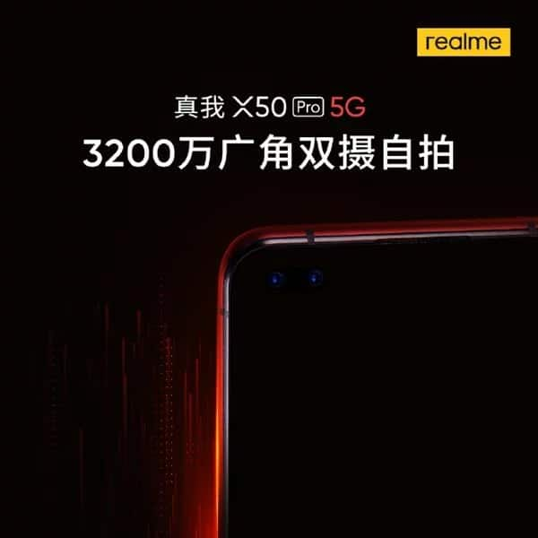 Realme X50 Pro con doble cámara frontal de 32 MP en pantalla