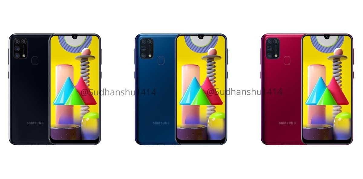 Renders del Samsung Galaxy M31