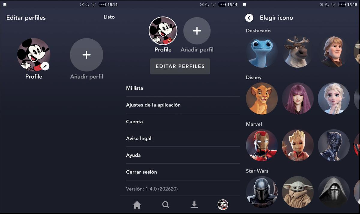 Diseny + editar perfiles
