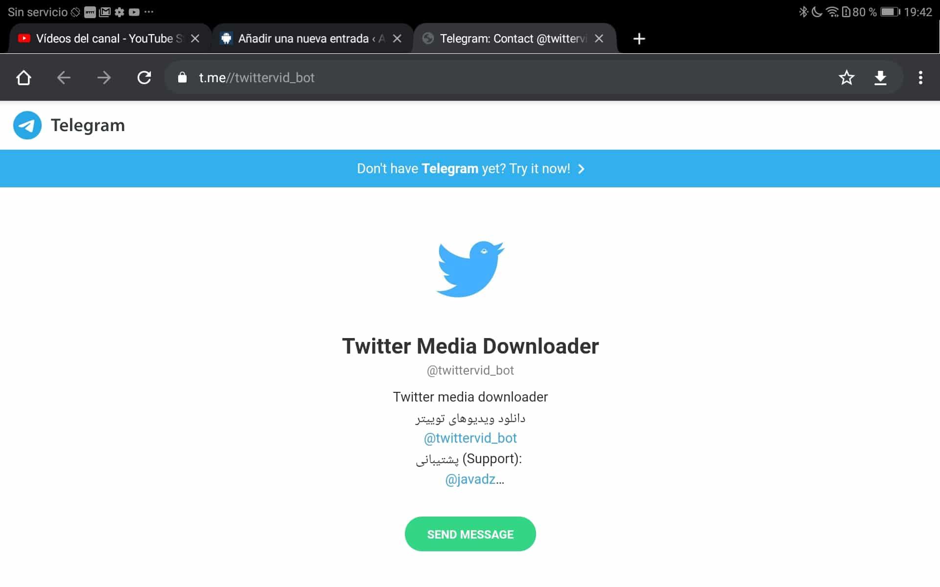 Twitter Media Downloader Bot Telegram