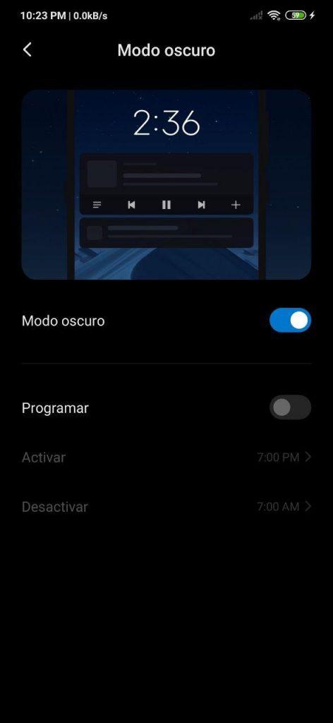 Cómo activar el modo oscuro en Xiaomi