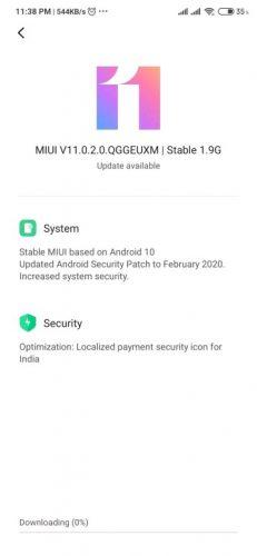 Android 10(diez) para el Redmi Note 8(ocho) Pro