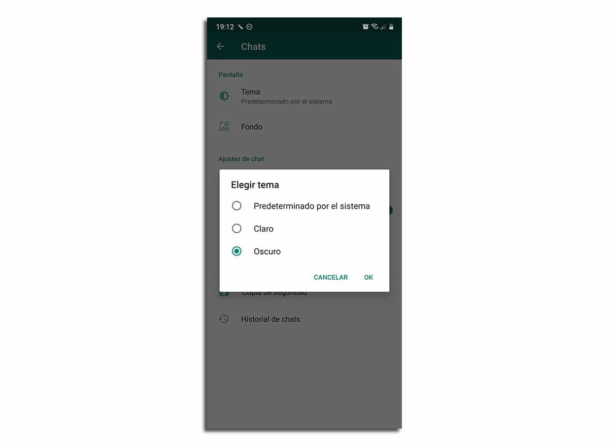Cómo activar modo oscuro WhatsApp