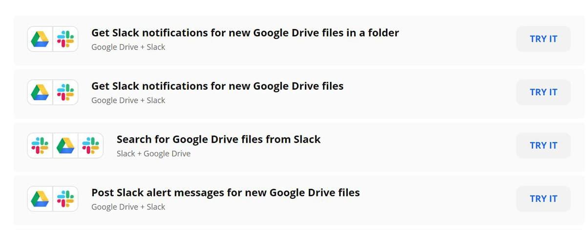 Integraciones de Drive con Slack